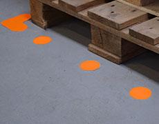 Marcatore per pavimento non stampato