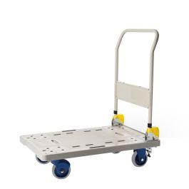 Carrello a piattaforma pieghevole in plastica Prestar, capacità di carico 300 kg