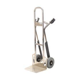Carrello manuale in alluminio Matador NST300CT con guide per scale; capacità di carico di 350 kg