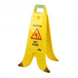 Insegna pieghevole ad A a forma di banana per pavimenti bagnati