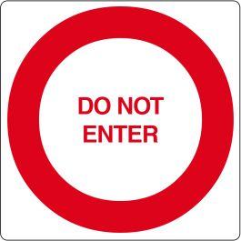"Pittogramma per pavimento ""Do Not Enter"""