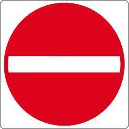"Pittogramma per pavimento ""nessun ingresso"""