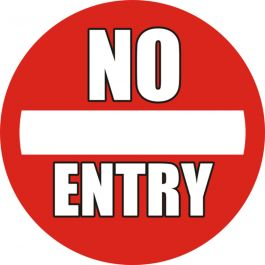 "Pittogramma antiscivolo per pavimento: ""No Entry"""