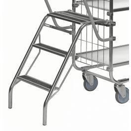 Scaletta pieghevole Kongamek per carrello con ripiani KM8000