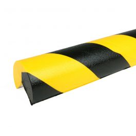 Paraurti PRS per angoli, modello 4 - giallo/nero - 1 metro
