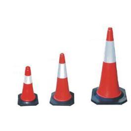 Cono stradale rosso/bianco - pilone