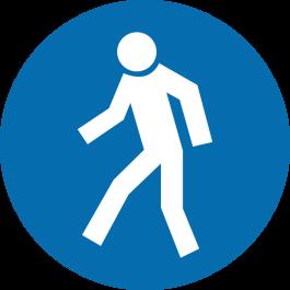 """Pittogramma antiscivolo per pavimento: """"Solo per i pedoni"""""""