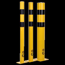 Protezione in acciaio con fissaggio al pavimento