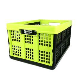 Cassa Pieghevole - 46 litri - giallo-verde e nera