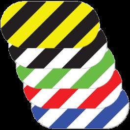 Marcatore ovale, a strisce