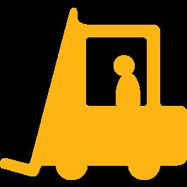 Pittogramma con carrello elevatore per marcatura pavimenti, anti-scivolo