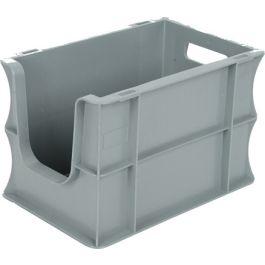 Contenitore a pareti dritte Eurobox 200x300x200 mm con frontale aperto
