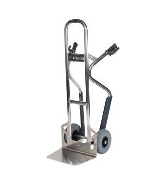 Carrello manuale in alluminio Matador NST250CT con guide per scale; capacità di carico di 350 kg