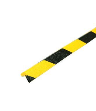 Paraurti PRS per angoli, modello 45 - giallo/nero - 1 metro