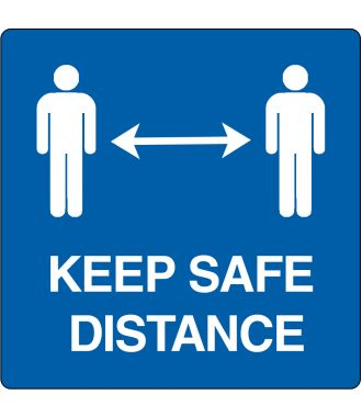 "Pittogramma per pavimento ""keep safe distance"""