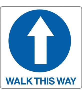 "Pittogramma per pavimento ""Walk This Way"""