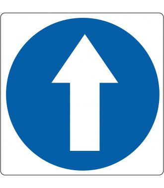 """Pittogramma per pavimento """"direzione a piedi obbligatoria"""""""