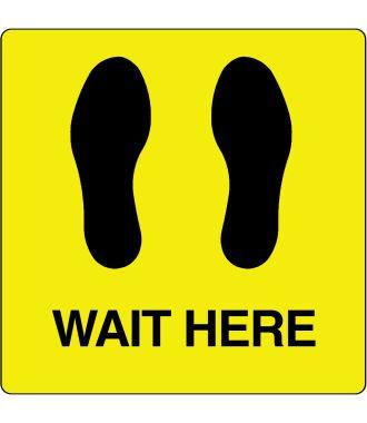 "Pittogramma per pavimento ""Wait Here"""