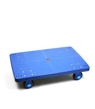 Carrello a piattaforma in plastica, capacità di carico 300 kg