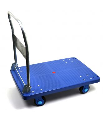 Carrello a piattaforma e con manubrio abbattibile, portata 300 kg