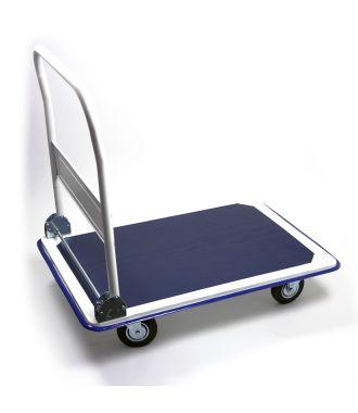Carrello a piattaforma in acciaio con manubrio abbattibile, portata 300 kg