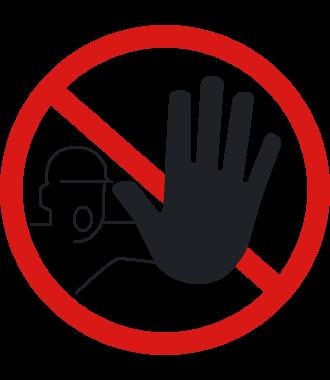 """Pittogramma antiscivolo per pavimento: """"Accesso non consentito alle persone non autorizzate"""""""