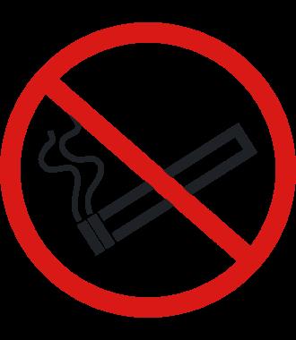 """Pittogramma antiscivolo per pavimento: """"Vietato fumare"""""""