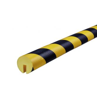 Paraurti per bordi Knuffi, tipo B - giallo/nero - 5 metro
