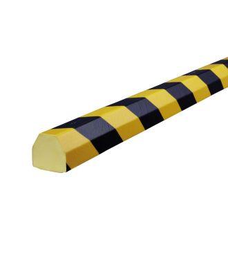 Paraurti per superfici piane Knuffi, tipo CC - giallo/nero - 5 metro