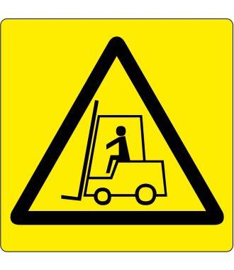 """Pittogramma per pavimento """"Attenzione: Zona con carrelli elevatori"""""""