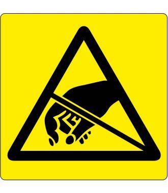 Pittogramma per pavimento di avviso per oggetti a rischio di scariche elettrostatiche