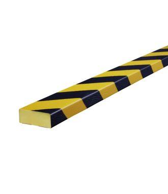 Paraurti per superfici piane Knuffi, tipo D - giallo/nero - 5 metro