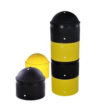 Dissuasore antiparcheggio in plastica, impilabile