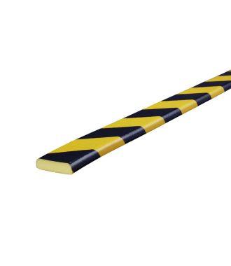 Paraurti per superfici piane Knuffi, tipo F - giallo/nero - 5 metro