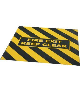 """Nastro di avvertimento per uscita di emergenza """"FIRE EXIT KEEP CLEAR"""""""