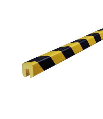 Paraurti per bordi Knuffi, tipo G - giallo/nero - 5 metro