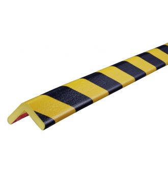 Paraurti per angoli Knuffi, tipo H - giallo/nero - 5 metro