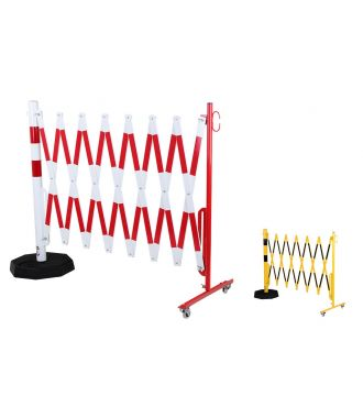 Barriera allungabile con palo portatile