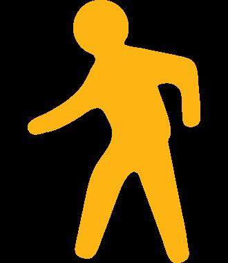 Pittogramma con percorso per la marcatura dei pavimenti, anti-scivolo
