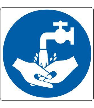 """Pittogramma per pavimento """"lavaggio a mano richiesto"""""""