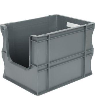 Contenitore a pareti dritte Eurobox 300x400x290 mm con frontale aperto