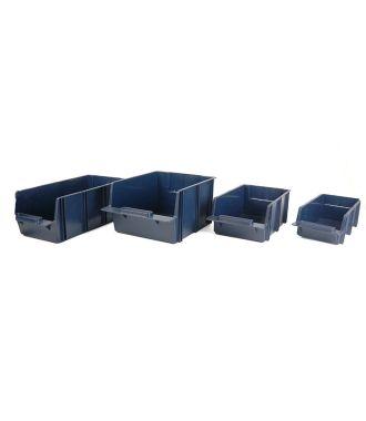 Set di contenitori per mensole Raaco