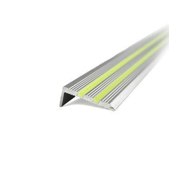 Profilo di paragradini in alluminio luminescente