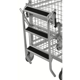 Scaletta pieghevole Kongamek per carrello con ripiani KM9000