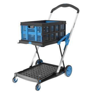 Carrello porta casse pieghevole X-Cart + 1 cassa pieghevole