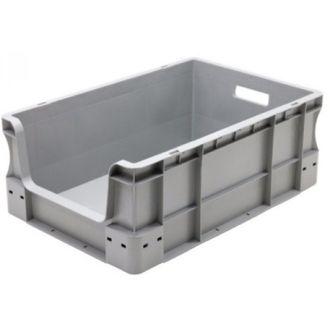 Contenitore a pareti dritte Eurobox 400x600x230 mm con frontale aperto