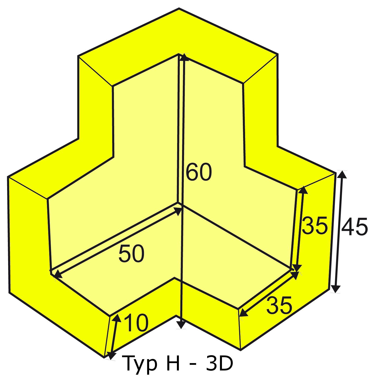 Knuffi multi-corner bumber H-3D type