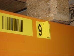 Il codice di controllo su una distinta etichetta