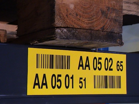 Il codice di controllo sull'etichetta di ubicazione